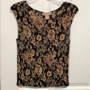 Notations Cami Tank Top Size L Rose Print